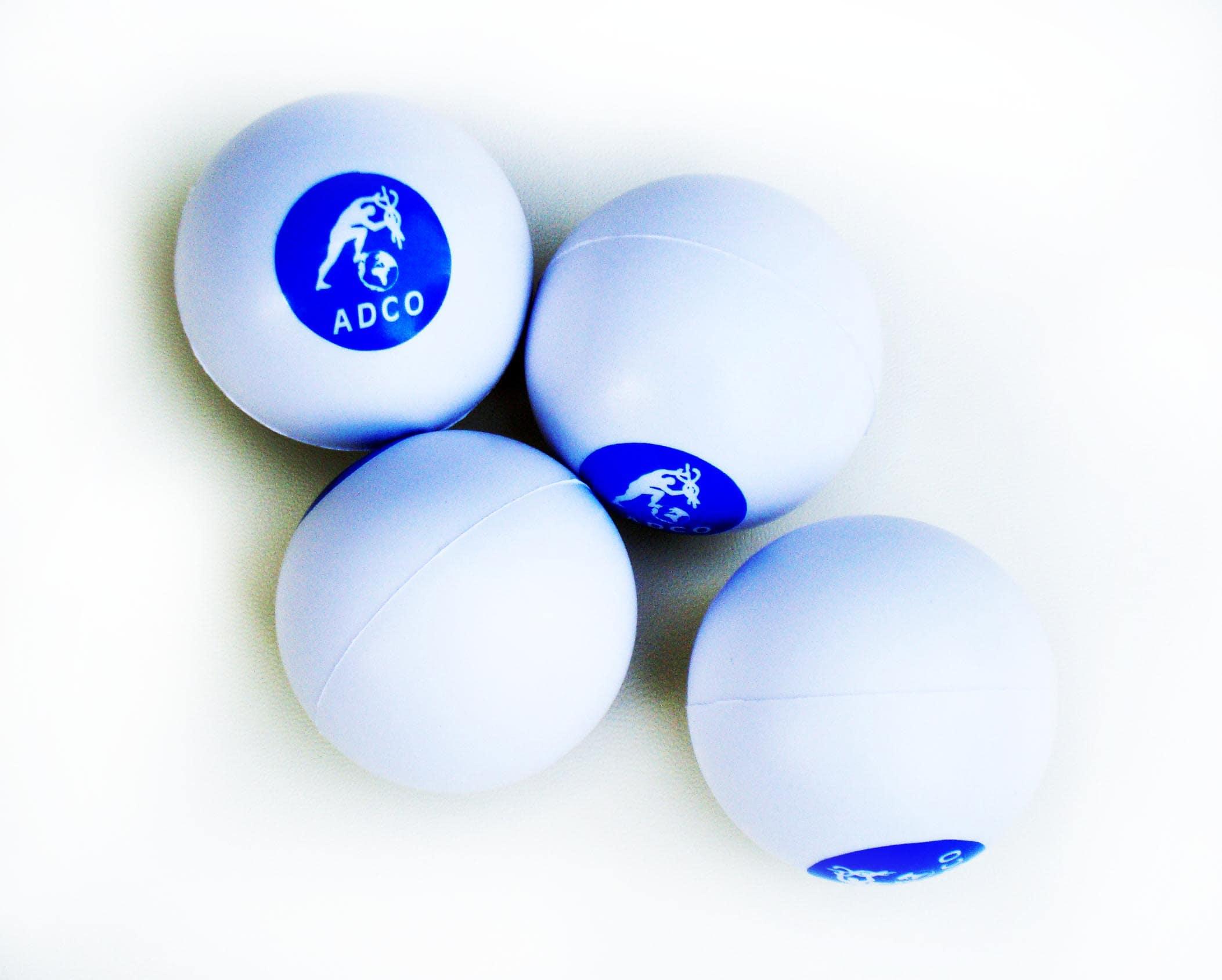 ADCO Μπαλάκια Ασκήσεως Χειρός (03400) Κατασκευασμένα από αφρό πολυουρεθάνης, Κατάλληλα για εξάσκηση των δακτύλων του χεριού (anti stress), Ένα μέγεθος, Σετ 4 τεμαχίων
