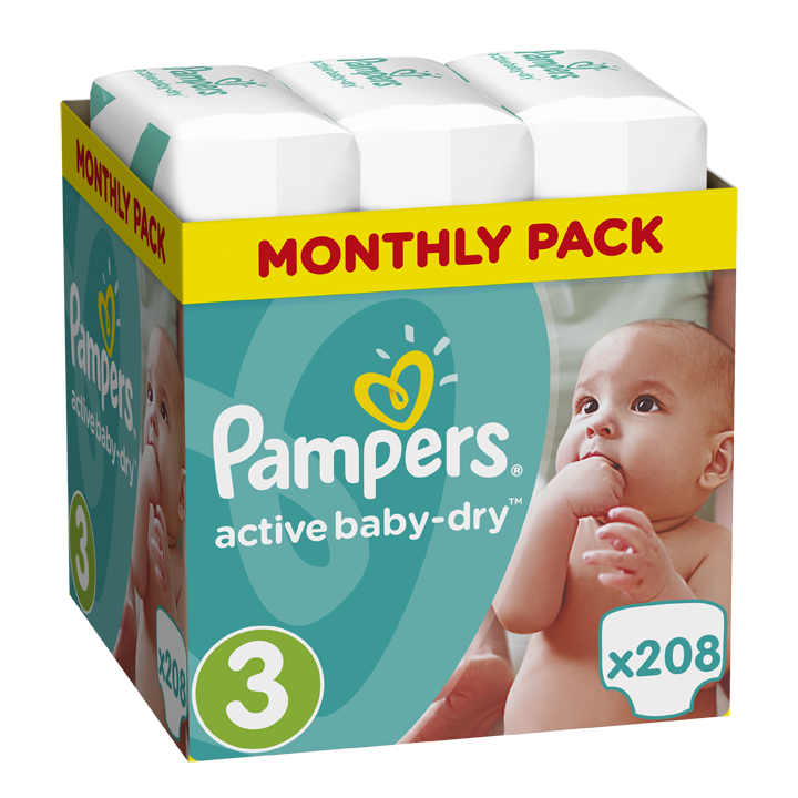 Pampers Active Baby Dry Monthly Pack No.3