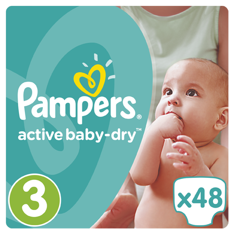 Pampers Active Baby Dry Value Pack No.3 (Midi) 5-9 kg Βρεφικές Πάνες, 48 τεμάχια