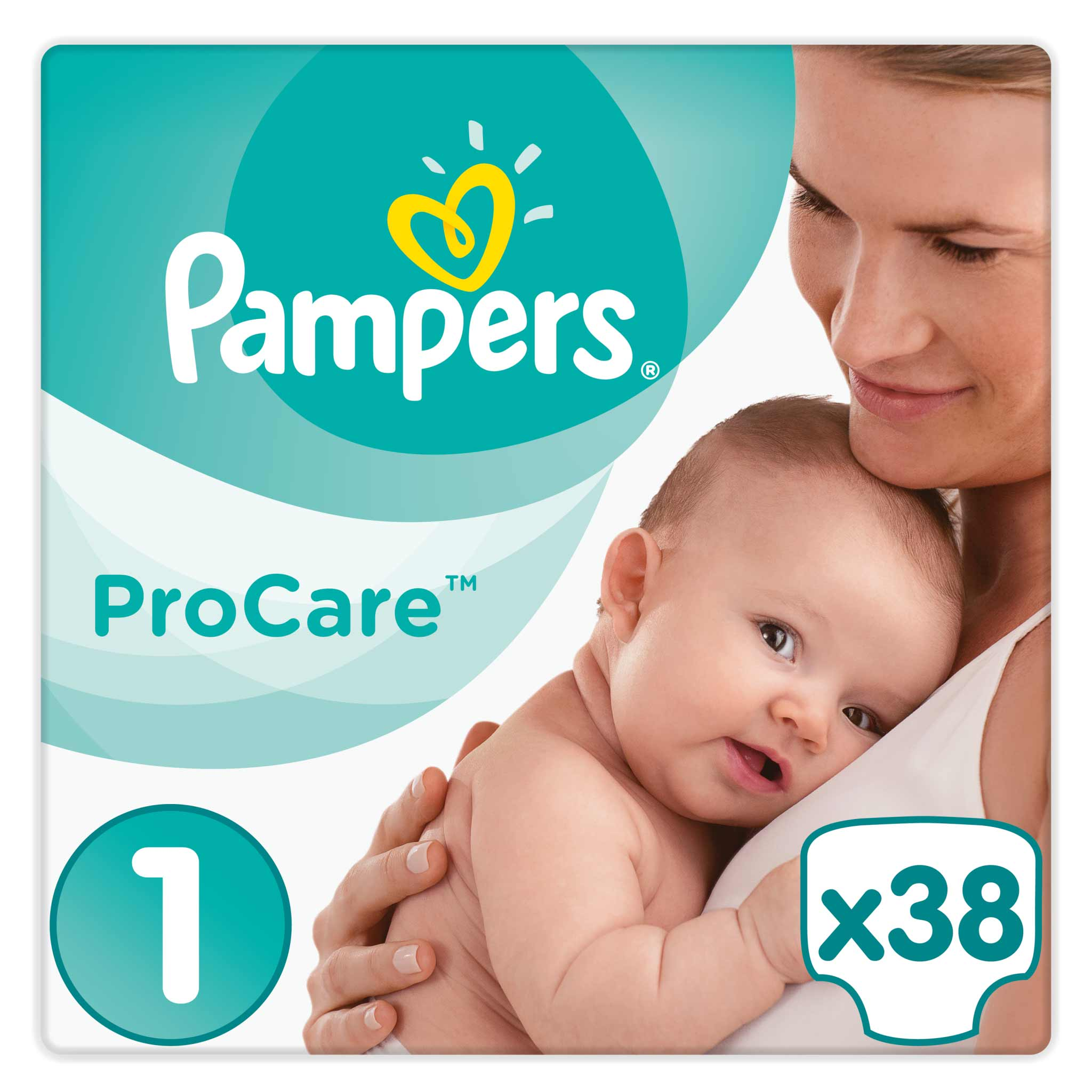 Pampers Procare Premium Protection No.1 (Newborn) 2-5 kg Βρεφικές Πάνες, 38 τεμάχια