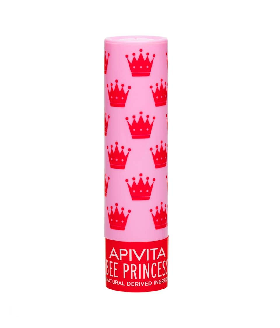 Apivita Lip Care Bee Princess Bio-Eco Balm with Apricot & Honey & 100% natural ingredients, 4.4 gr