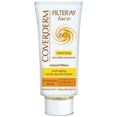 Coverderm Filteray Face SPF60 Αντηλιακή Κρέμα Προσώπου, για όλους τύπους δέρματος, 50ml