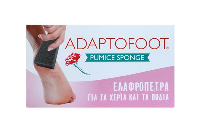 Adaptofoot Carnation Ελαφρόπετρα Μαύρη για τα Χέρια & τα Πόδια, 1τμχ