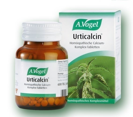 A. Vogel URTICALCIN, Ταμπλέτες από φρέσκια Urtica (τσουκνίδα), 600 tabs