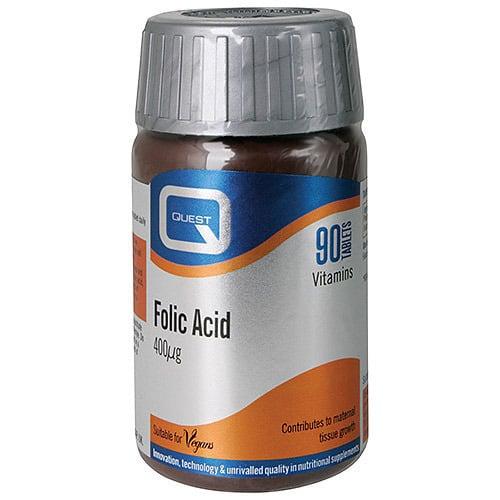 Quest Folic Acid 400μg, 90 ταμπλέτες