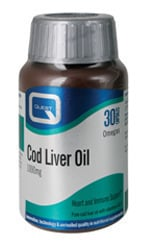 Quest Cod Liver Oil 1000mg, 30 κάψουλες