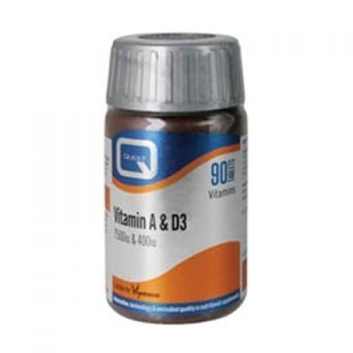 Quest Vitamin A & D 7500i.u. & 400i.u, 90 ταμπλέτες