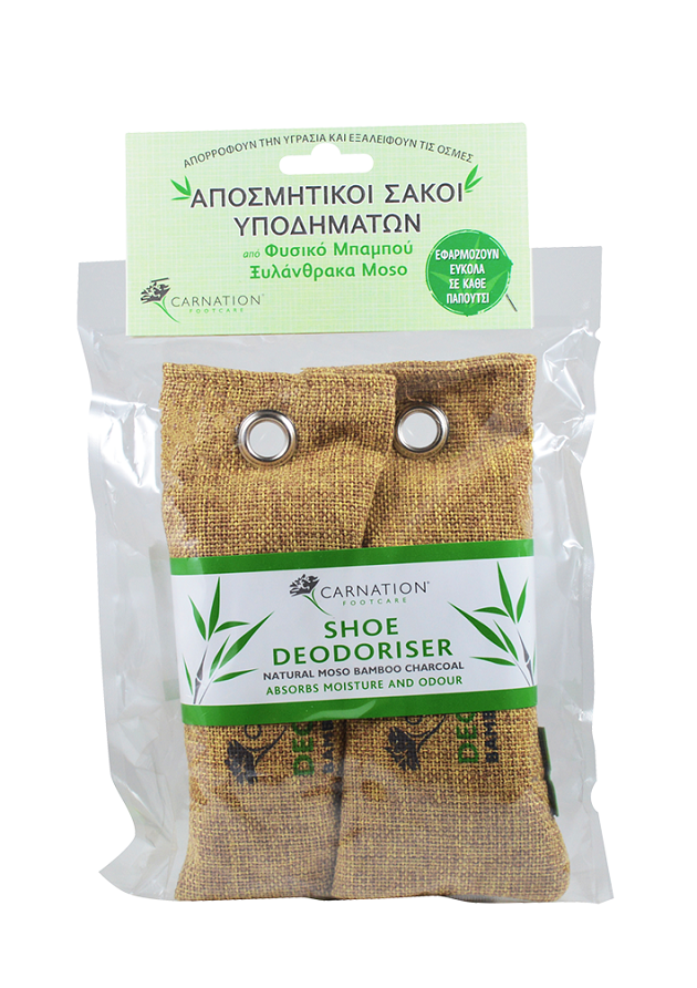 Vican Carnation Shoe Deodoriser Pouches Αποσμητικοί Σάκοι για τα Παπούτσια, 1 ζευγάρι