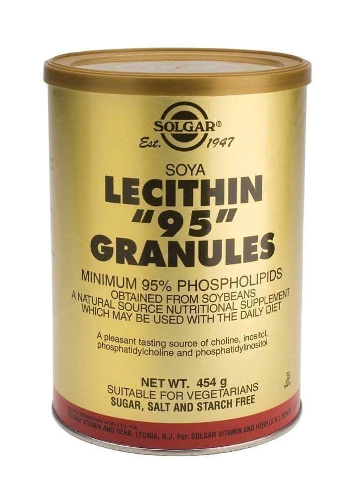 "Solgar Lecithin \""95\"" Granules,454gr"
