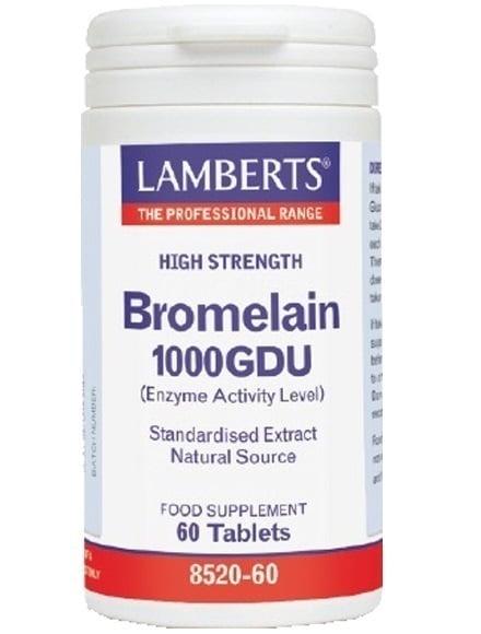 LAMBERTS BROMELAIN 400mg (1000 GDU), 60 tabs