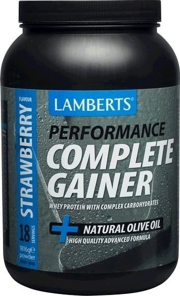 Lamberts Performance Complete Gainer Whey Protein Πρωτεΐνη Ενισχυμένη με Σύνθετους Υδατάνθρακες, Κρεατίνη, Βήτα Αλανίνη & HMB με Γεύση Φράουλα, 1816g