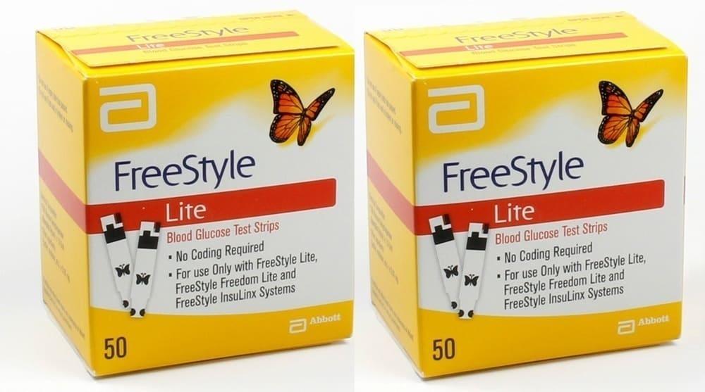 2x Abbott FreeStyle Lite, 100 ( 2x 50) ταινίες