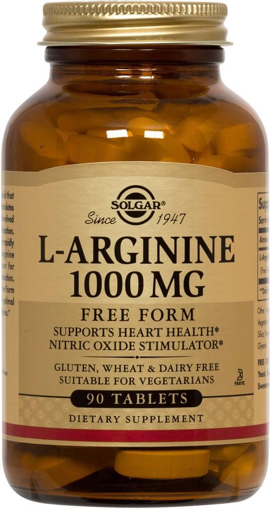 Solgar L-Arginine 1000mg Αργινίνη,90tabs