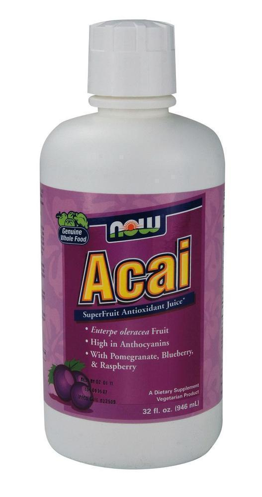 Now Acai Superfruit Antioxidant Juice (Vegetarian), 946 ml