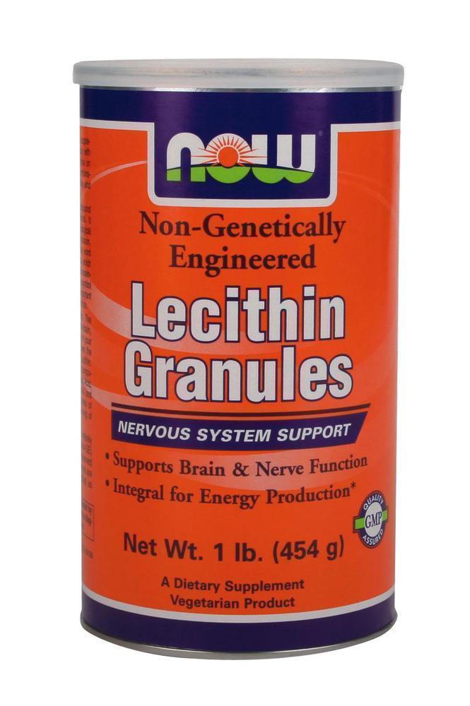 Now ?Lecithine Granules Non GE Vegetarian, 454 gr