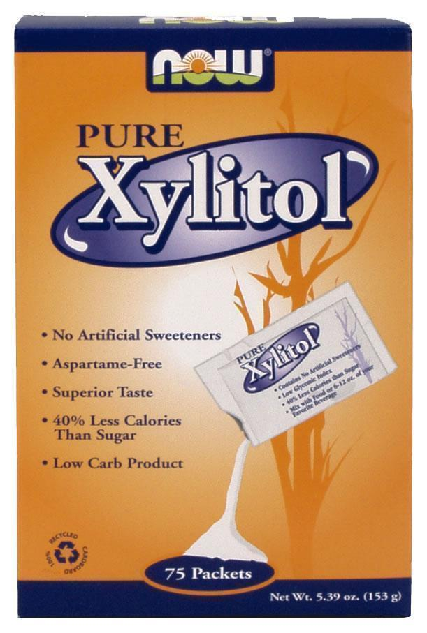 Now Pure Xylitol Packets , 75 πακέτα / κουτί