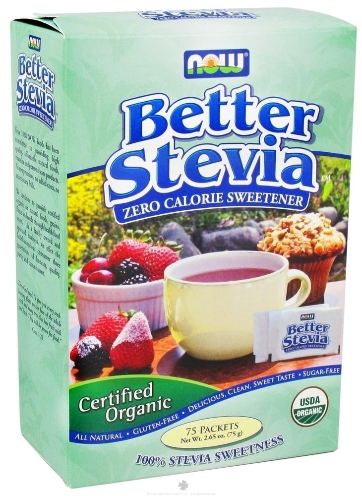Now Betterstevia Organic Extract, 75 πακέτα / κουτί