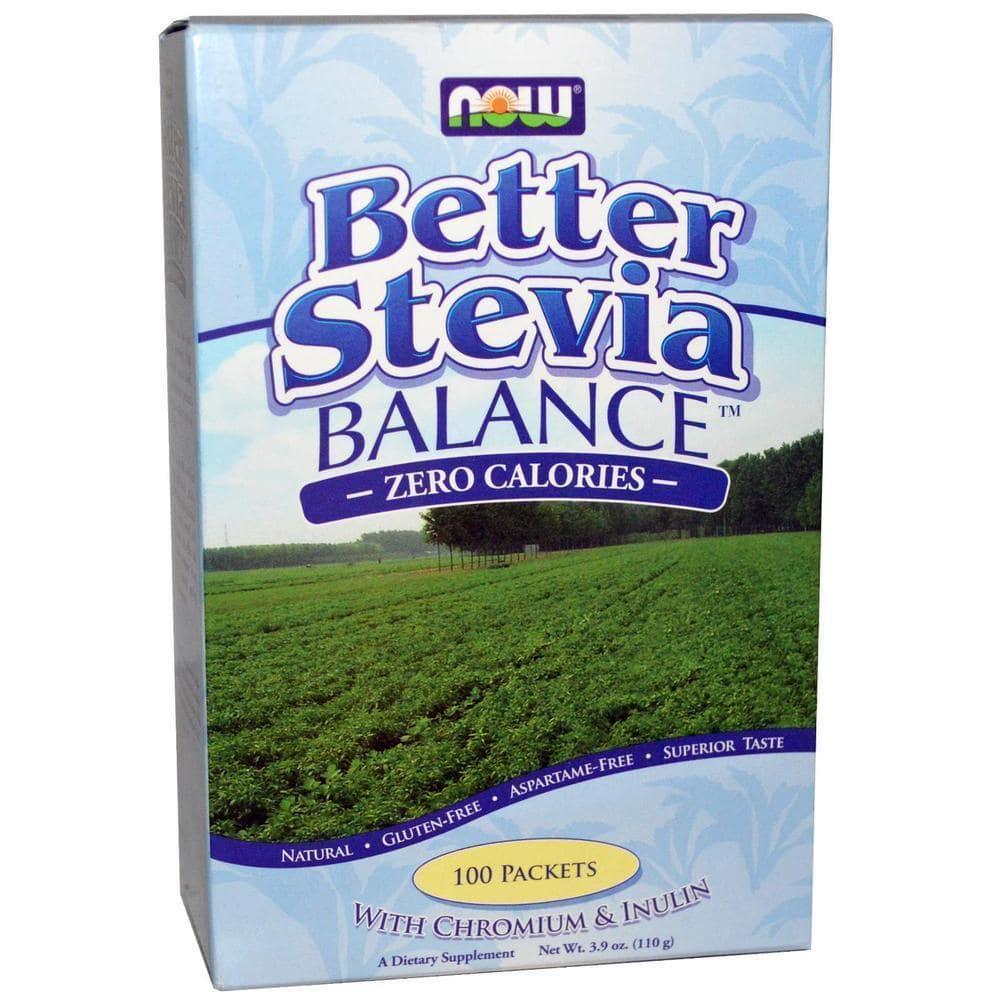 Now Betterstevia Balance w/ Inoulin & Chromium, 100 πακέτα / κουτί