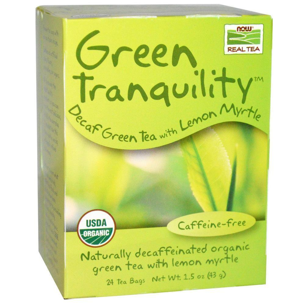 Now Green Tranquility Organic, Caffeine free, 24 φακελάκια