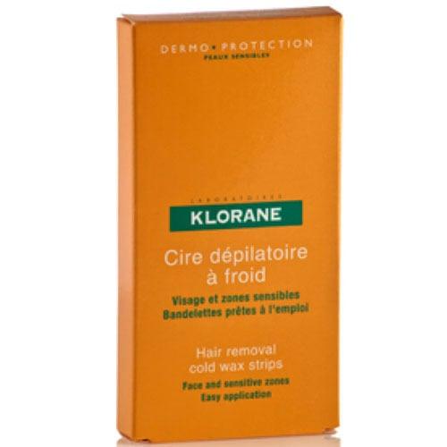 Klorane Cire Depilatoire Froid, Αποτριχωτικές Ταινίες 6 Διπλές Ταινίες για πόδια με γλυκό αμυγδαλέλαιο
