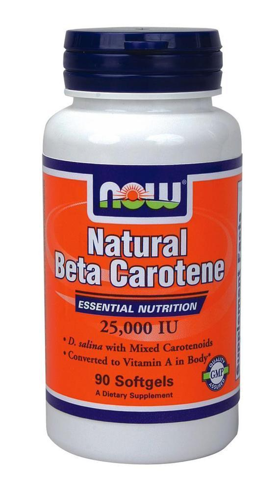 Now Natural Beta Carotene 25.000 IU, 90 softgels
