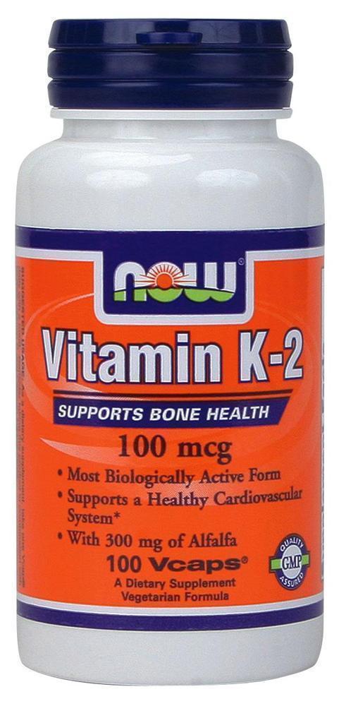 Now Vitamin K2, 100 mcg, Βιταμίνη K, 100 vcaps