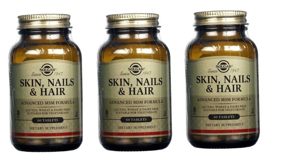 3 x Solgar Skin, Nails & Hair Formula, 60tabs