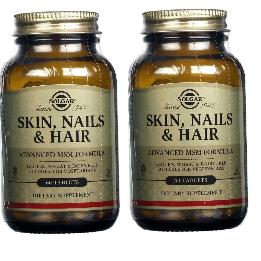 2 x Solgar Skin, Nails & Hair Formula, 2 x 60tabs