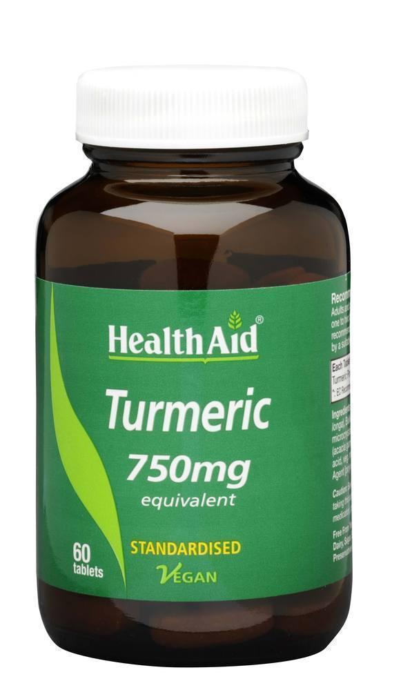 Health Aid TURMERIC 750mg, 60 tabs