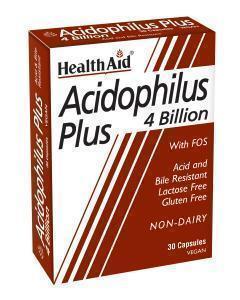 Health Aid ACIDOPHILUS Plus (4 billion), 30 κάψουλες