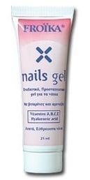 Froika Nails Gel, Τζελ για Εύθραυστα, Κιτρινισμένα, Θαμπά Νύχια, 25ml