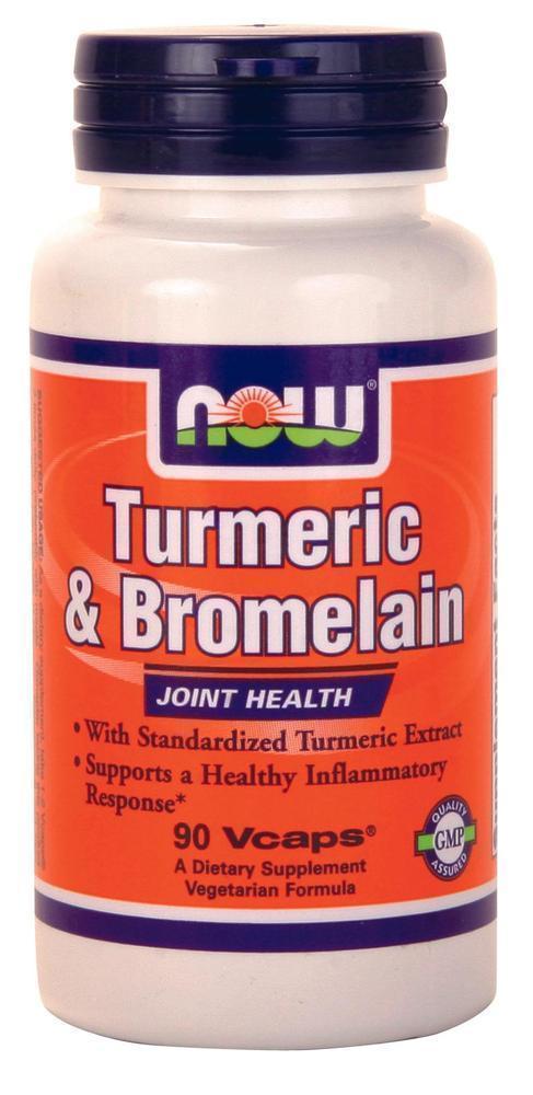 Now Turmeric & Bromelain 300/150 mg, 90 vcaps
