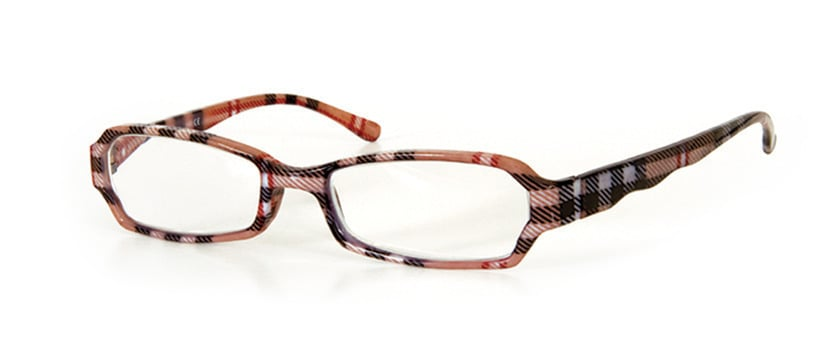 Vitorgan EyeLead E106 Women Reading Glasses, Authentic Plastic glasses brown checkered color. Comes with soft case with lanyard and cleaning cloth, 1 pcs