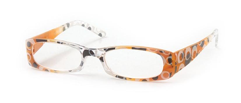 Vitorgan EyeLead E118 Γυναικεία Γυαλιά Πρεσβυωπίας, Κοκκάλινα σε Πορτοκαλί- Άσπρο χρώμα, με σχέδια. Συνοδεύεται από μαλακή θήκη με κορδόνι & πανάκι καθαρισμού, 1 τμχ
