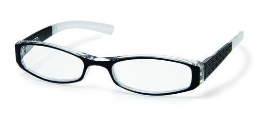 Vitorgan EyeLead E124 Γυναικεία Γυαλιά Πρεσβυωπίας, Κοκκάλινα σε Μαύρο - Άσπρο χρώμα. Συνοδεύεται από μαλακή θήκη με κορδόνι & πανάκι καθαρισμού, 1 τμχ
