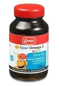 Lanes Epax Omega-3 Kids 290mg, 60 μασώμενες κάψουλες