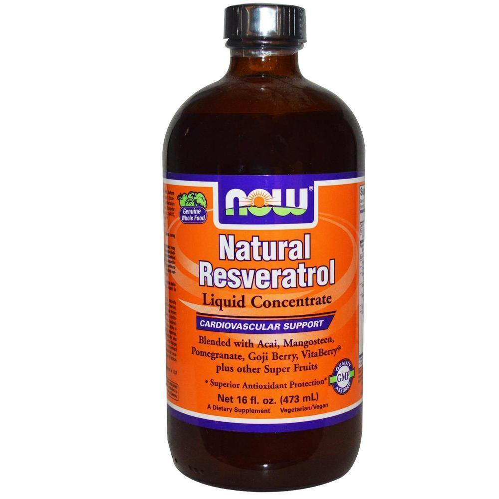 Now Resveratrol Liquid, Mega Potency (Vegetarian), 473 ml
