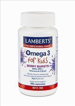LAMBERTS OMEGA 3 FOR KIDS Berry Bursts, 100 caps