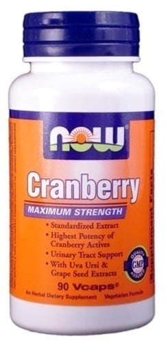 Now Cranberry Maximum Strength, w/ Uva Ursi, 90 Vcaps