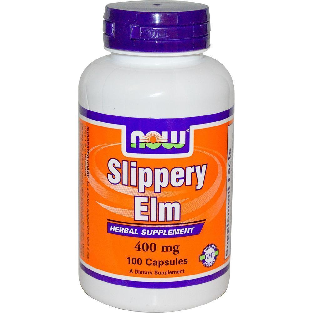 Now Slippery Elm 400 mg, 100 caps