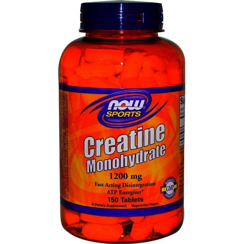 Now Creatine Monohydrate 1200 mg, 150 Tablets