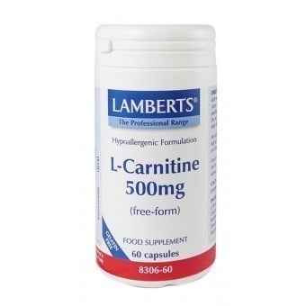 LAMBERTS L-Carnitine 500MG NEW HIGHER STRENGTH, 60 caps