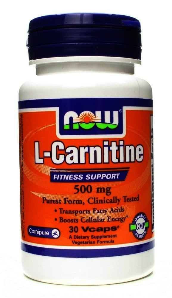 Now L Carnitine 500 mg, 30 vcaps
