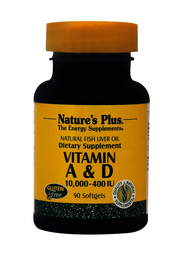 Nature's Plus Vitamin A 10.000 IU & D 400 IU Βιταμίνες A & D, 90 softgels