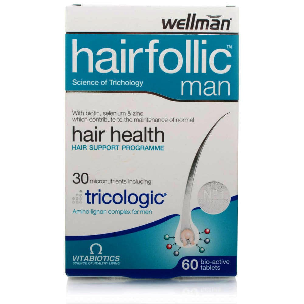 Vitabiotics Wellman HAIRFOLLIC (Tricologic) Man, 60 ταμπλέτες