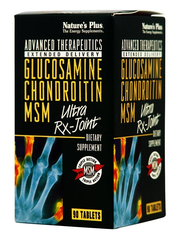 Nature's Plus, Glucosamine Chondroitin MSM, Ultra Rx Joint (Extended Delivery), 90 tabs