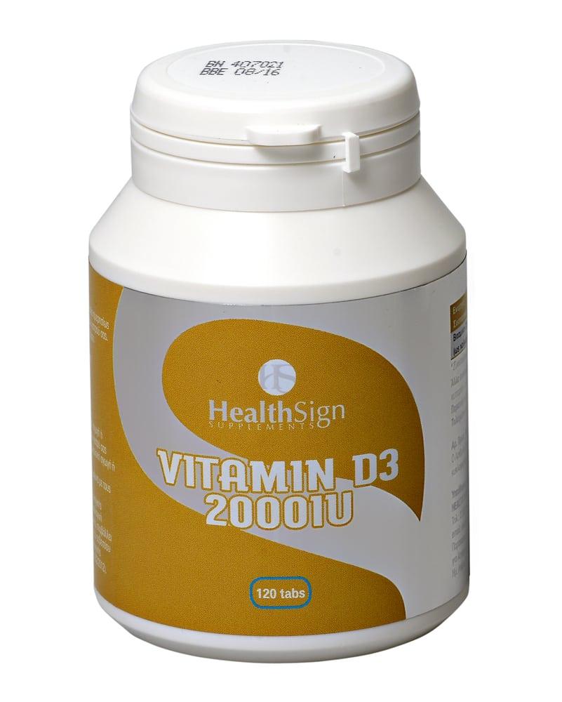 Health Sign D3 2000 i.u, 120tabs