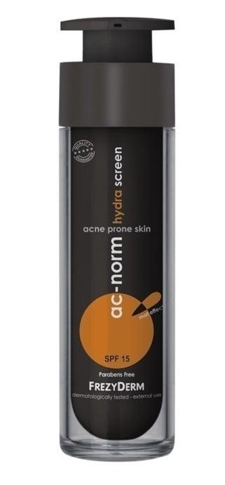 Frezyderm AC Norm Hydra Screen SPF15 Ενυδατική & Αντηλιακή Κρέμα για το ακνεϊκό & λιπαρό δέρμα, 50ml