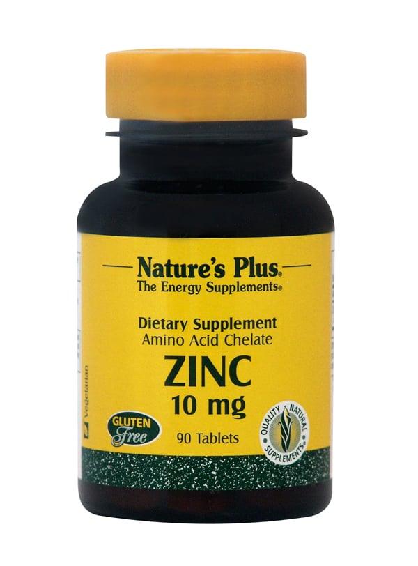 Nature's Plus Zinc 10mg Συμπλήρωμα με Ψευδάργυρο, 90 tabs