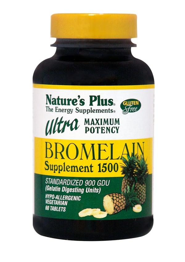 Nature's Plus, Ultra Bromelain 1500 mg, 60 tabs